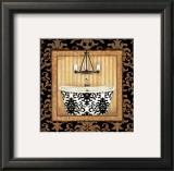 Black Veranda Bath I Prints by Jo Moulton