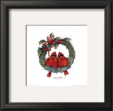 Merry Wreath II Posters by Carolyn Shores-Wright