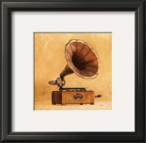 Antique Phonograph Print by  Conde