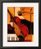 Abstract Violin Poster by Paul Brent