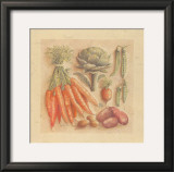 Vegetables IV, Carrots Print by Laurence David