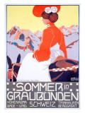 Sommer in Graubunden Giclee Print