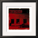 Montreal Vice City in Red Prints by Pascal Normand