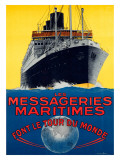 Les Messageries Maritimes Giclee Print