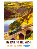 By Rail to the West Giclee Print