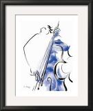 Contrebasse I Prints by Helene La Haye