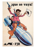 Ronald Reagan on Missile Giclee Print