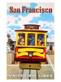 San Francisco United Air Lines Giclee Print