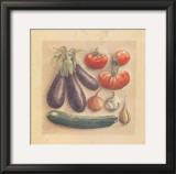 Vegetables III, Eggplants Prints by Laurence David