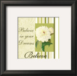 Spring Peony: Believe Posters by Marilu Windvand