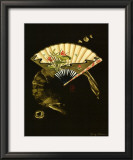 Oriental Fan II Poster by Nancy Slocum