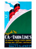 Travel by CA and Union Lines Giclee Print