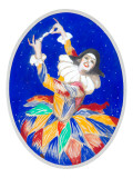 Dancer with Colorful Dress Giclee Print