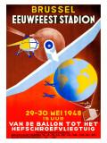 Brussel Eeuwfeest Stadion Giclee Print