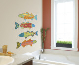 Fencepost Fish Wall Decal