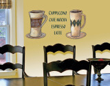 Coffee Duo Wall Decal by T. Gamel