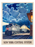 Trains that Pass in the Night Giclee Print