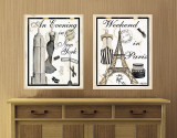 Paris &amp; New York Wall Decal by Kathy Hatch