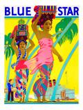 Blue Star Giclee Print