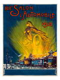 Salon de L&#39;Automobile 1912 Giclee Print