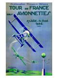 Tour de France des Avionnettes Giclee Print