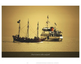 Great Steamers White and Gold Prints by Graham Rhodes