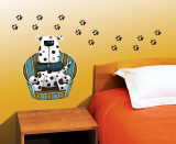 Polka Dot Pup Wall Decal by Jo Parry