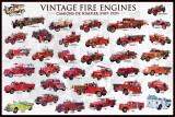 Vintage Fire Engines Plakaty
