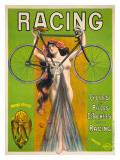 Racing, Cycles et Pieces Giclee Print