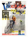 Velocipedes Peugeot Reproduction procédé giclée