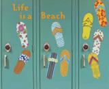 Flip Flops Autocollant mural par Karen Dupré