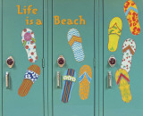 Flip Flops Wall Decal by Karen Dupre