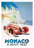9th Grand Prix Automobile, Monaco, 1937 Art by Geo Ham