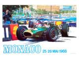Monaco 1968 Giclée-tryk