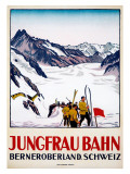 Jungfrau Bahn Lámina giclée