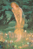 Noche de san Juan Lámina por Edward Robert Hughes