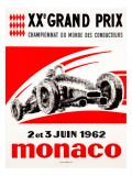 Monaco Grand Prix, 1962 Reproduction procédé giclée