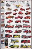 History of Firefighting Plakaty