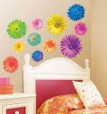 Pop Art Daisies Wall Decal by Anthony Matos