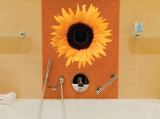 Single Sunflower Wall Decal by Masao Ota