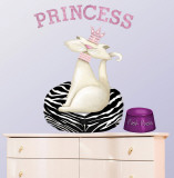 Princess Kitty Wall Decal by Jo Parry