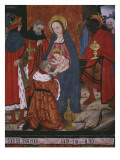 Adoration of the Magi, Panel from the Church San Andres of Tortura, Late 15th Century-Early Giclee Print by  Spanish School