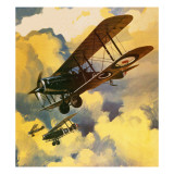 Men of the Royal Flying Corps Out to Combat the Threat of the German Floating Flotilla Giclee Print by Wilf Hardy