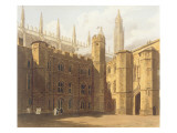 Court of King's College, Cambridge, from 'The History of Cambridge', Engraved by Daniel Havell Premium Giclee Print by Frederick Mackenzie