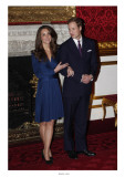 Prince William and Kate Middleton, Announcing their Engagement and Forthcoming Royal Wedding.  Giclee Print