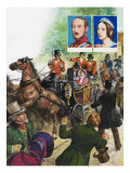 On 10 June, 1840, a Man Discharged Two Pistols at Queen Victoria, as She Rode in Her Open Carriage Giclee Print by Clive Uptton