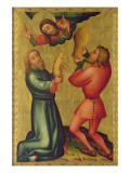 The Offerings of Cain and Abel from the High Altar of St. Peter's in Hamburg, the Grabower Altar Giclee Print by  Master Bertram of Minden
