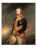 Portrait of Lt. Col. Sir William Robert Clayton in Royal Horse Guards Uniform Giclee Print by Thomas Stewardson