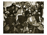 Pancho Villa in the Presidential Chair with Emiliano Zapata at His Side, Mexico City, 1914-5 Premium Giclee Print