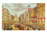 Wedding Procession of Edward, Prince of Wales and Princess Alexandra Driving Through the City Giclee Print by Robert Dudley